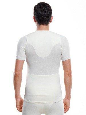 Medima Classic  Herren-Hemd 1/4 Arm mit Angora-Frottee Verstärkung innen weiß