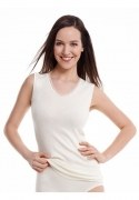 Medima Classic  Damen-Hemd ohne Arm  40%  Angora weiß