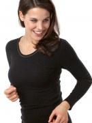 Medima Classic Damen-Hemd 1/1 Arm Angora/Baumwolle schwarz