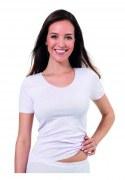 Medima Lingerie  Damen-T-Shirt 1/4 Arm weiß