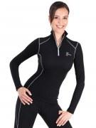 Medima Classic Sport-AIR Damen-Rolli mit Zip, schwarz